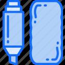 education, equipment, eraser, essentials, pen, supplies, whiteboard icon