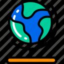 earth, education, geography, globe, world icon