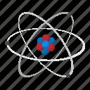 atom, cartoon, chemistry, neutron, nuclear, nucleus, physics icon