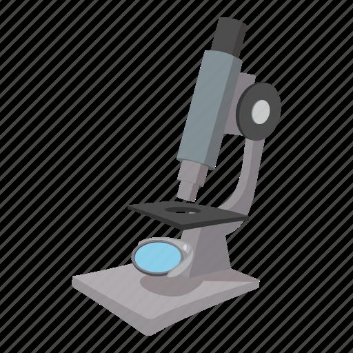 biology, cartoon, chemistry, education, equipment, laboratory, microscope icon