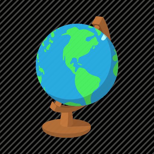 Cartoon globe green map school water world icon icon cartoon globe green map school water world icon sciox Images