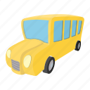 bus, cartoon, kids, school, schoolbus, transit, window icon
