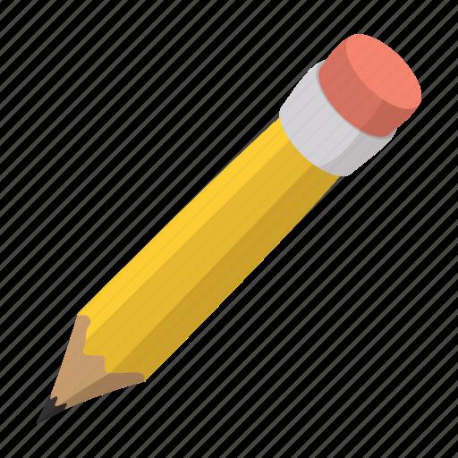 cartoon, character, childish, cute, eraser, pen, pencil icon