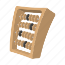 abacus, calculator, cartoon, count, counter, frame, isoled