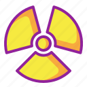 chemistry, nuclear, radiation, radioactive icon