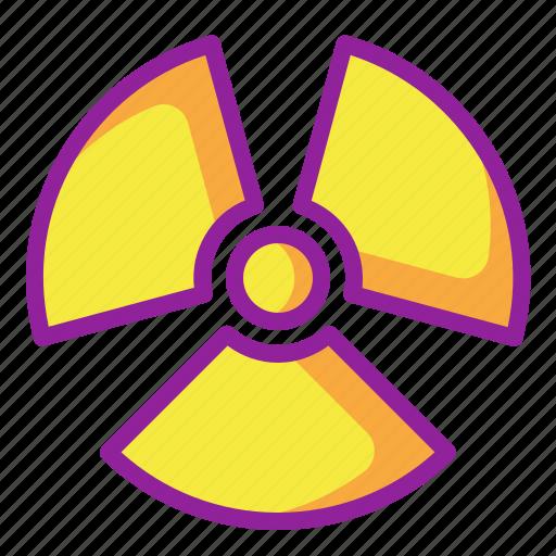 chemistry, nuclear, radiation, radioactive icon