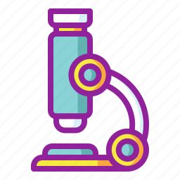 chemistry, examination, lab, microscope, research icon