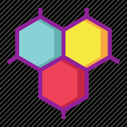 atom, bond, cells, chemistry, organism, science icon