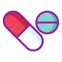 chemistry, drugs, medicine, pills, tablets icon