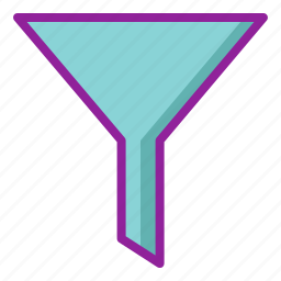 chemistry, filter, funnel icon