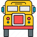 bus, education, school, transport, transportation, van icon