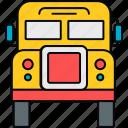 bus, school, van, education, transport, transportation