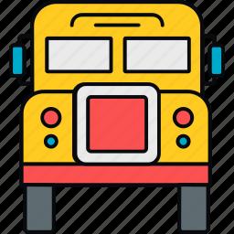 bus, education, school, transport, transportation, van icon