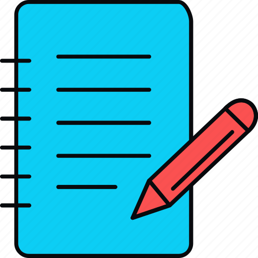 edit, note, notes, paper, pencil, writing icon