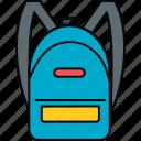 bag, school, education, learning