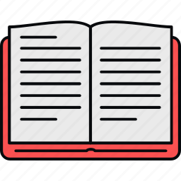 book, learning, notebook, open, read, school, study icon