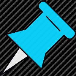 attach, pin, pointer icon