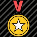 badge, medal, achievement, reward, ribbon, success