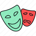 expression, face, mask icon