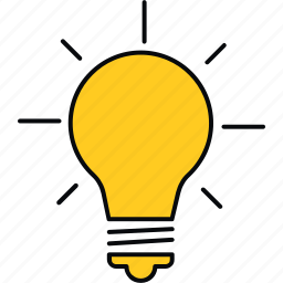 bulb, creative, design, idea, innovation, light icon