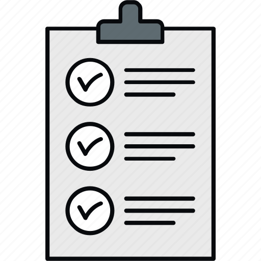 checklist, page, paper, sheet, syllabus, tickmark icon