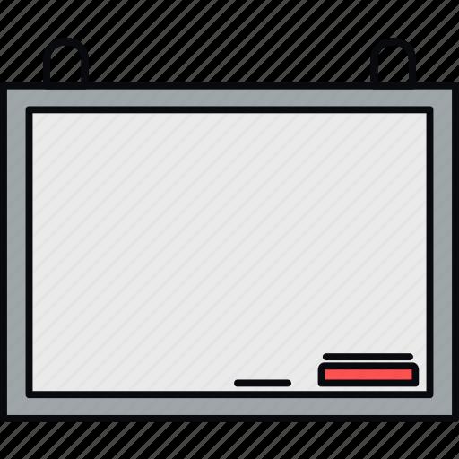 blackboard, board, classroom, duster, whiteboard icon