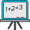 blackboard, board, calculate, calculation, math, maths icon