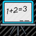 blackboard, calculation, maths, board, calculate, math