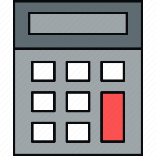 calculate, calculator, device, hardware icon