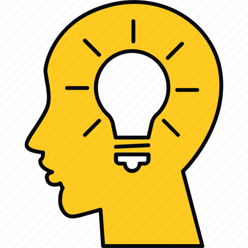 creative, education, idea, innovation, learn, light, think icon