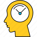 punctual, think, time icon