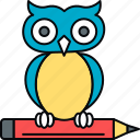 classroom, education, owl, professor, smartclasses, teacher icon
