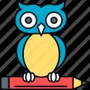 classroom, education, owl, professor, smartclasses, teacher icon