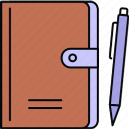 book, diary, folder, notepad, notes, planner icon