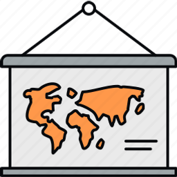 calendar, country, location, map, navigation, world icon