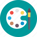 art, artist palette, canvas, paint palette, painting icon