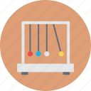 education, newton balls, newton cradle, physics, science icon