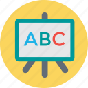 blackboard, classroom, english class, english learning, whiteboard icon