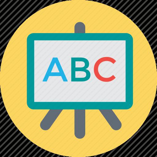 blackboard, classroom, english class, english learning, whiteboard icon