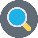 loupe, magnifier, magnifying lens, searching tool, zoom icon