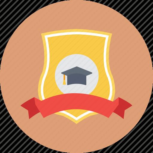 education award, prize, school award, school trophy, shield award icon