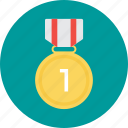 first place, first position, first rank, medal, reward icon