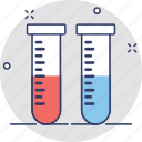 lab glassware, lab research, lab test, sample tube, test tube icon