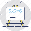 blackboard, calculation, math, math lesson, math sum icon