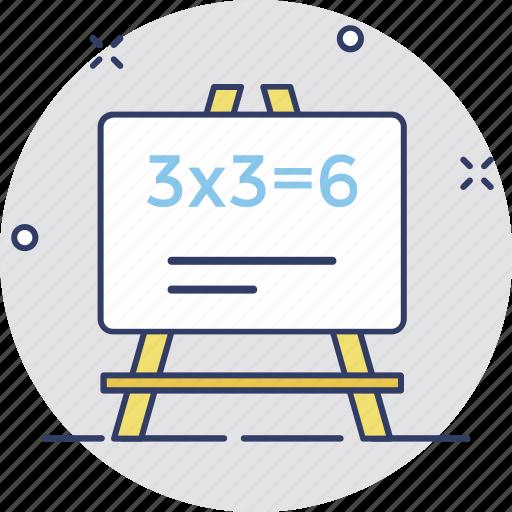 blackboard, calculation, math, math lesson, math sum icon
