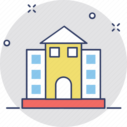 building, college, real estate, school, university building icon