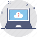 cloud computing, cloud faq, cloud support, faq, questionnaire icon