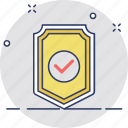 antivirus protection, protection, protection enabled, shield, shield check mark icon