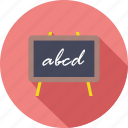 black board, chalk, knowledge, learn, school, study, white board icon