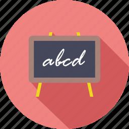 black board, chalk, knowledge, learn, school, study, white board icon